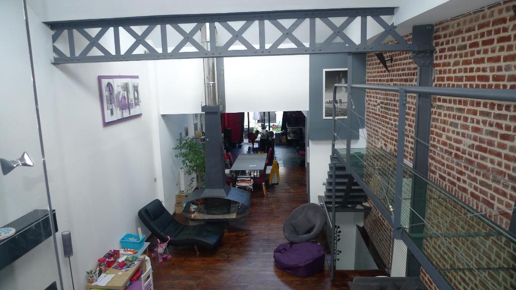 Vente appartement 59139 Wattignies - WATTIGNIES 59139 Superbe LOFT de 153 m2 Avec jardin