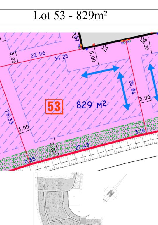 Vente terrain 59134 Herlies - PROX HERLIES TERRAIN A BATIR DE 829M²