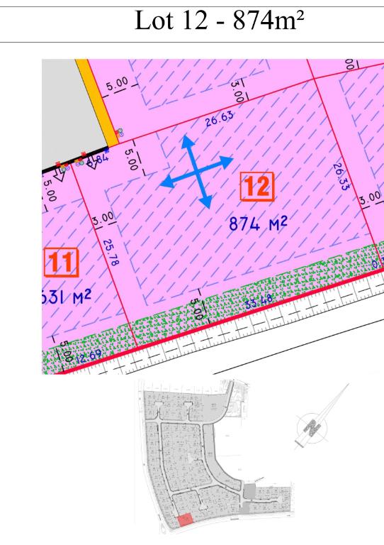 Vente terrain 59134 Herlies - PROXIMITÉ HERLIES TERRAIN A BÂTIR DE 874M²