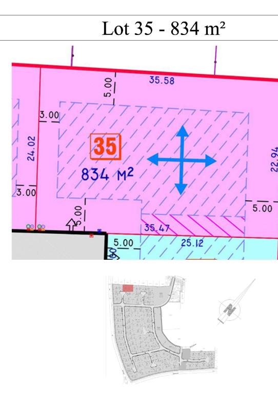 Vente terrain 59249 Aubers - PROXIMITÉ HERLIES TERRAIN A BÂTIR DE 834M²   DDTT191
